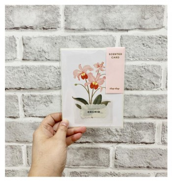 Botanical Scented Card - Orchid