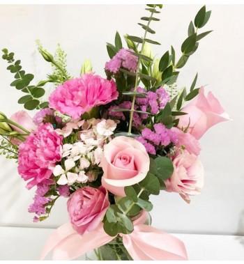 Seasonal Floral Mason Bloom Jar