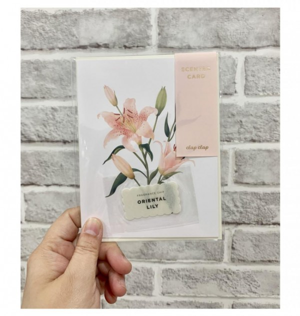 Botanical Scented Card - Oriental Lily