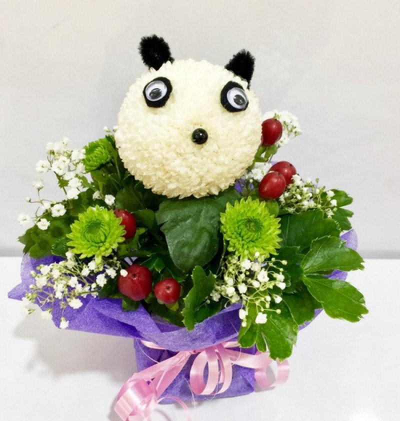 Animal Bloom Arrangement - Panda